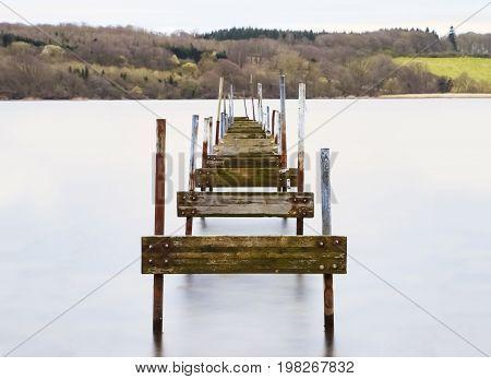 Old wood jetty from Kolding in Denmark