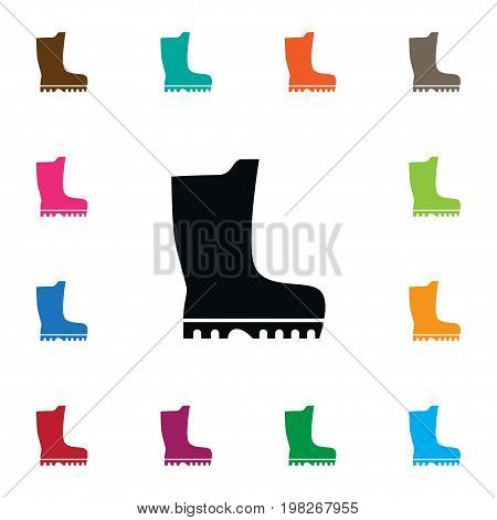 Footwear Vector Element Can Be Used For Rubber, Footwear, Galoshes Design Concept.  Isolated Galoshes Icon.