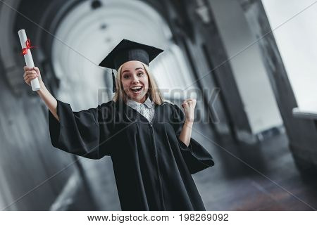 Female Graduate In University