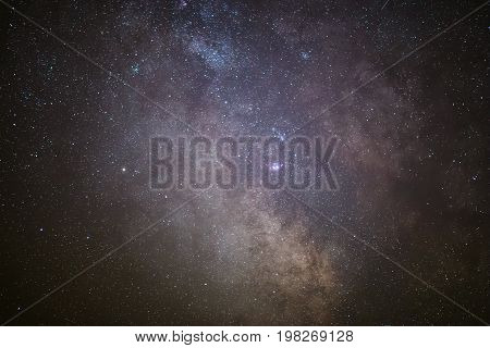 The center of our home galaxy, the Milky Way galaxy, night stars landscape