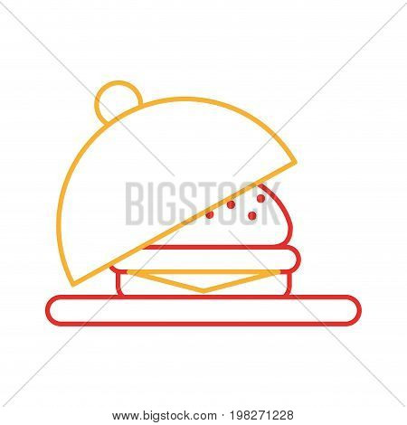 tray with delicious burger vector illustration design