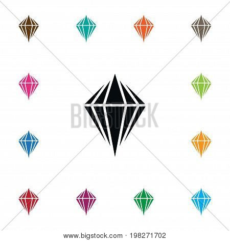 Gem Vector Element Can Be Used For Gem, Crystal, Carat Design Concept.  Isolated Carat Icon.