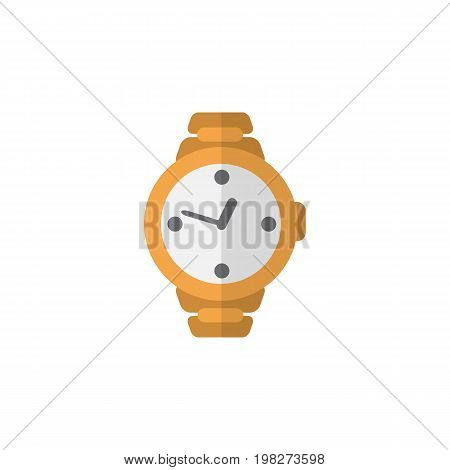 Timer Vector Element Can Be Used For Wristwatch, Clock, Timer Design Concept.  Isolated Wristwatch Flat Icon.