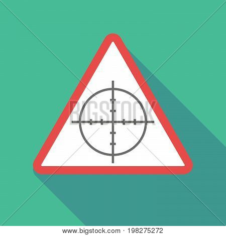 Long Shadow Warning Signal With A Crosshair