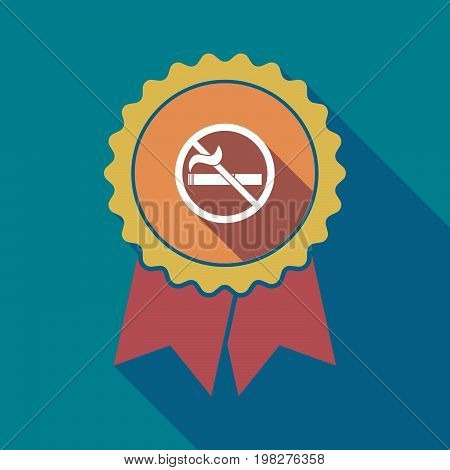 Long Shadow Badge With  A No Smoking Sign