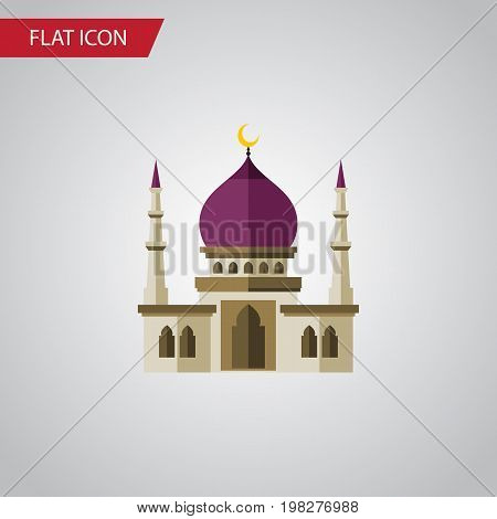 Traditional Vector Element Can Be Used For Muslim, Traditional, Minaret Design Concept.  Isolated Muslim Flat Icon.
