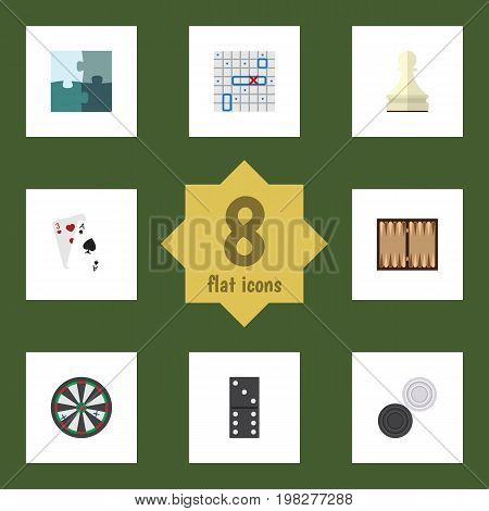 Flat Icon Entertainment Set Of Bones Game, Sea Fight, Pawn And Other Vector Objects