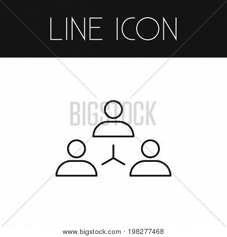 Networking Vector Element Can Be Used For Networking, Unity, Group Design Concept.  Isolated Unity Outline.