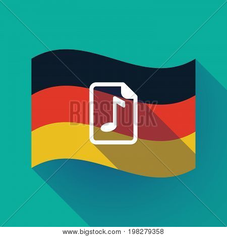 Long Shadow Germany Flag With  A Music Score Icon