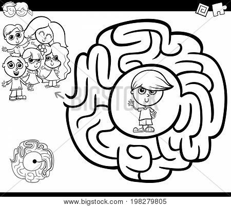 Maze Activity Gtame With Children