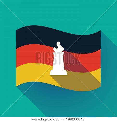 Long Shadow Germany Flag With A Bishop    Chess Figure