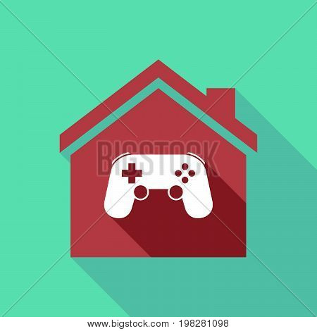 Long Shadow House With  A Game Pad