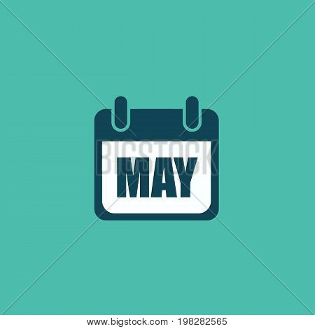 Calendar may icon isolated on background. Vector stock.