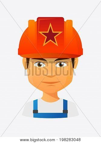 Worker Avatar With  The Red Star Of Communism Icon