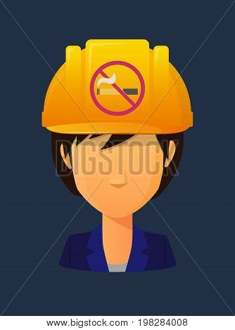 Worker Avatar With  A No Smoking Sign