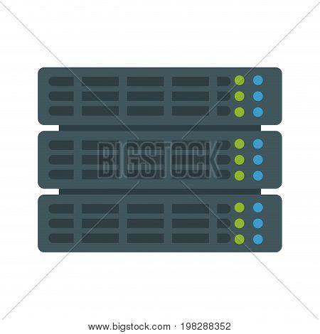 computer data file center hosting cloud transfer vector illustration