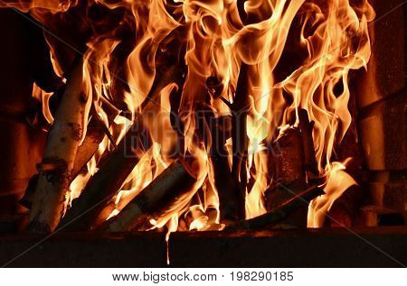 Fire, flames, burning wood, grill, hot, Fire flames on a black background, Close up of fire flames, Abstract fire flames background