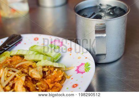 Thai Food Pad Thai, Stir Fry Noodles In Padthai Style