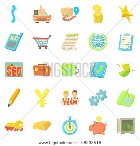 Payment by card icons set. Cartoon set of 25 payment by card vector icons for web isolated on white background