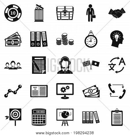 Customers of the bank icons set. Simple set of 25 customers of the bank vector icons for web isolated on white background