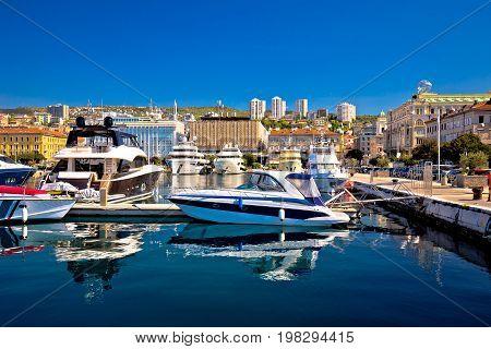 City Of Rijeka Yachting Waterfront View