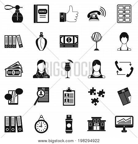 Business studio icons set. Simple set of 25 business studio vector icons for web isolated on white background
