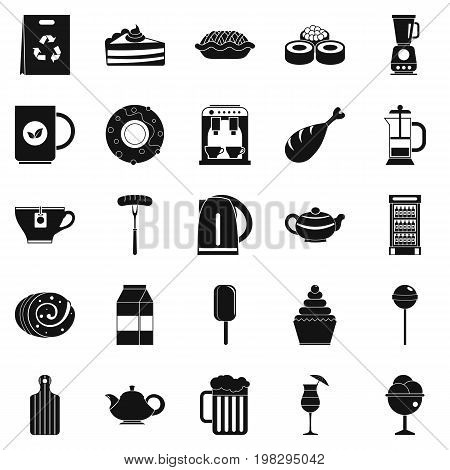 Canteen icons set. Simple set of 25 canteen vector icons for web isolated on white background