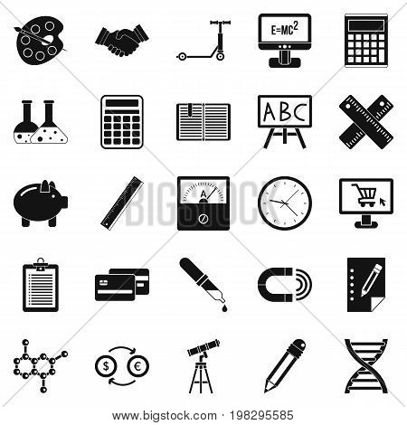 Numerator icons set. Simple set of 25 numerator vector icons for web isolated on white background
