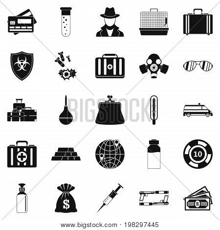 Investigation icons set. Simple set of 25 investigation vector icons for web isolated on white background