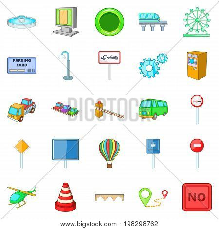 Navigation icons set. Cartoon set of 25 navigation vector icons for web isolated on white background