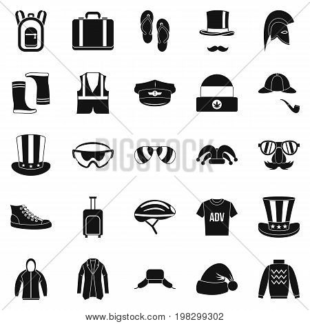Buying winter clothes icons set. Simple set of 25 buying winter clothes vector icons for web isolated on white background
