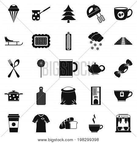 Saloon icons set. Simple set of 25 saloon vector icons for web isolated on white background