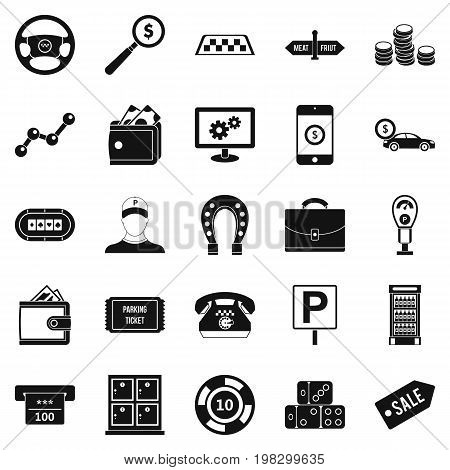 Shiner icons set. Simple set of 25 shiner vector icons for web isolated on white background