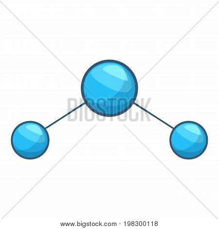 Water molecule icon. Cartoon illustration of water molecule vector icon for web design