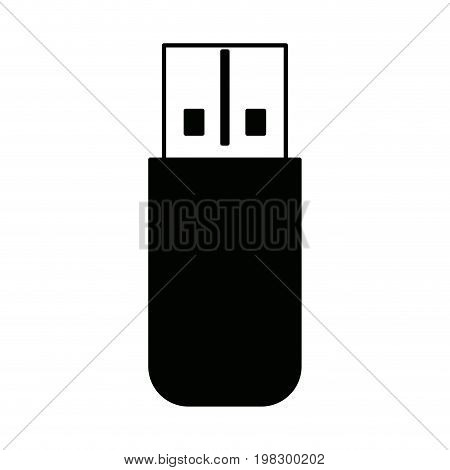 flash drive template usb memory connection data vector illustration