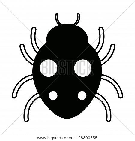 bug sign icon virus symbol software bug error disinfection vector illustration