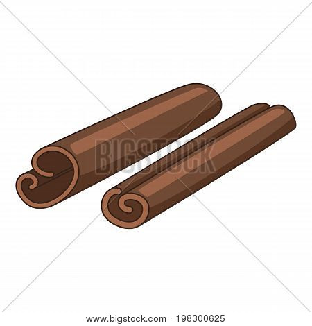 Cinnamon sticks icon. Cartoon illustration of cinnamon sticks vector icon for web design