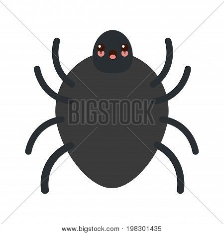 kawaii bug sign icon virus symbol software bug error vector illustration