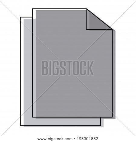 blank paper sheets page file document vector illustration