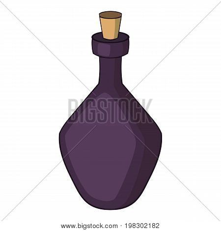 Round alcohol bottle icon. Cartoon illustration of round alcohol bottle vector icon for web design