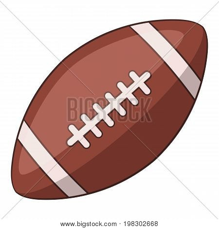 Rugby ball icon. Cartoon illustration of rugby ball vector icon for web design