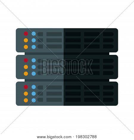 data file center hosting cloud transfer vector illustration