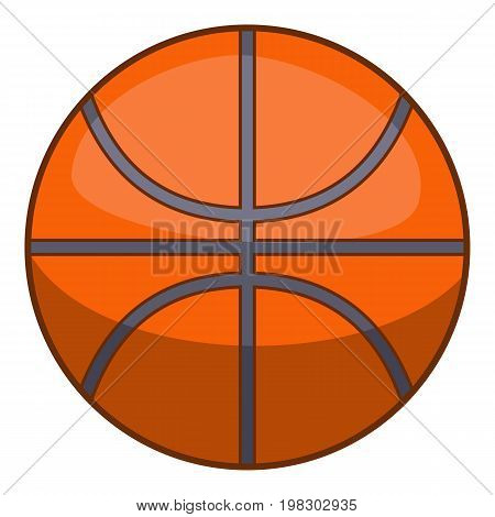 Basketball ball icon. Cartoon illustration of basketball ball vector icon for web design