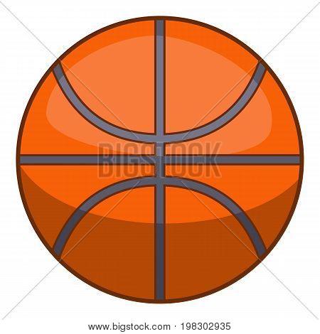 Basketball ball icon. Cartoon illustration of basketball ball vector icon for web design