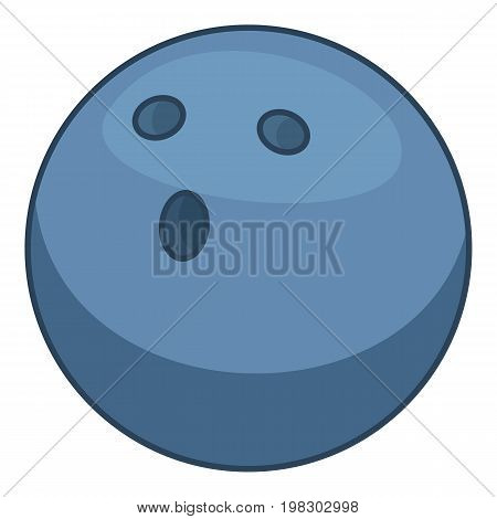 Bowling ball icon. Cartoon illustration of bowling ball vector icon for web design