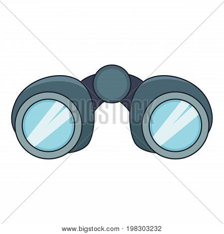 Binoculars explorer icon. Cartoon illustration of binoculars explorer vector icon for web design