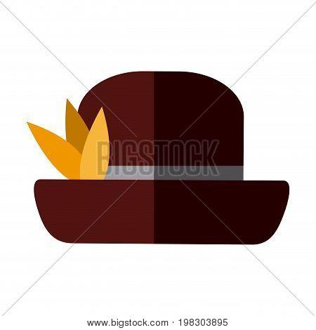 hat male head old fashion clothes elegant vector illustration