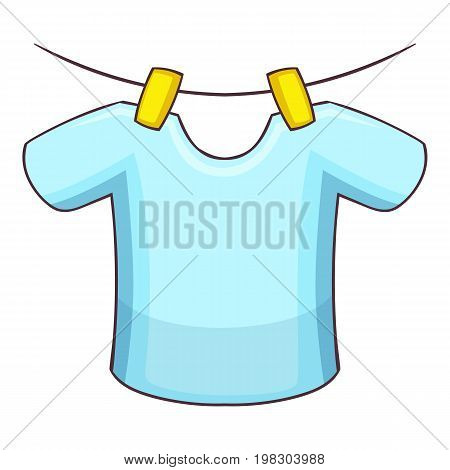 Shirt on the rope icon. Cartoon illustration of shirt on the rope vector icon for web design