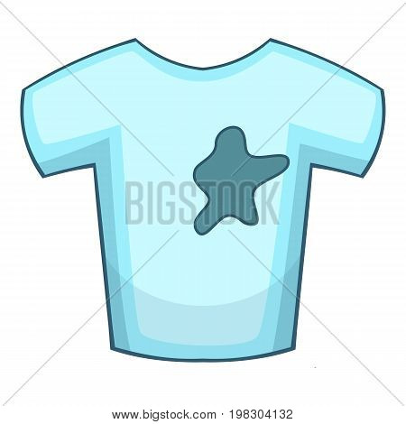 Stains on t-shirt icon. Cartoon illustration of stains on t-shirt vector icon for web design