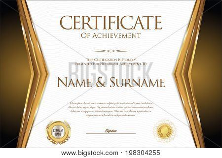 Certificate Or Diploma Retro Design Collection 4.eps